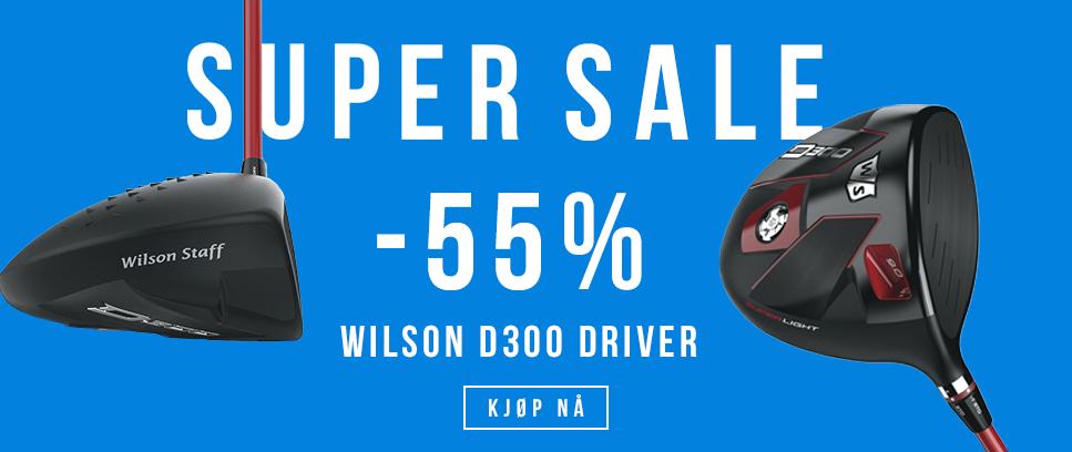 SUPER SALG PÅ WILSON D300 DRIVERE 55% RABATT
